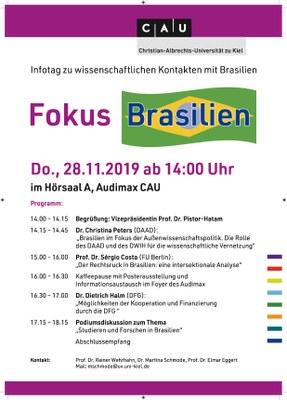 Plakat Fokus Brasilien
