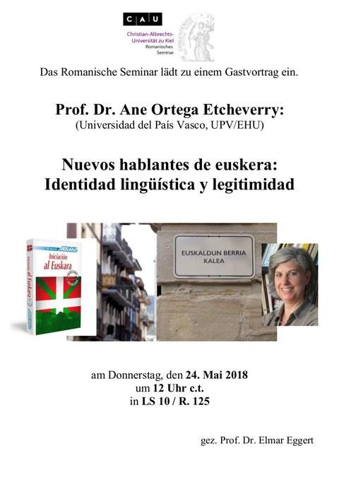 Gastvortrag Ortega aus Bilbao