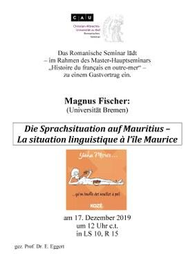 Plakat MAgnus Fischer Mauritius