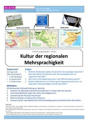 Plakat Forschungsprojekt Sprachkultur