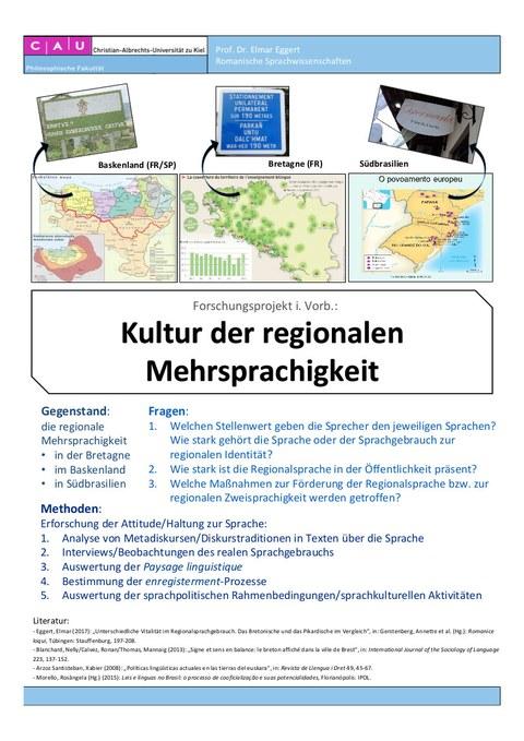 Poster Projekt Regionale Sprachkultur