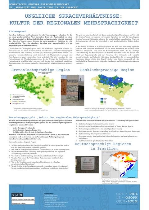 Plakat Ungleichheit regionaler Sprachkultur