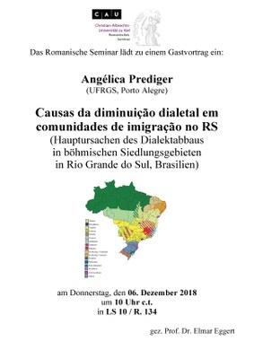 Gastvortrag Angelica Prediger Südbrasilien