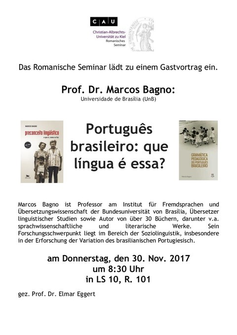 Plakat Gastvortrag Bagno